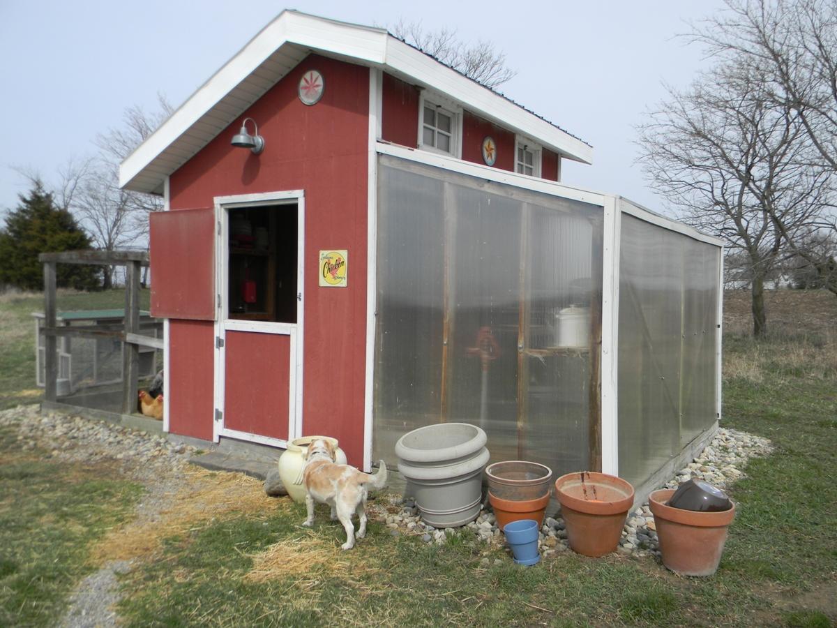 chicken coop details front door - Chicken Co Op Plans And Greenhouse