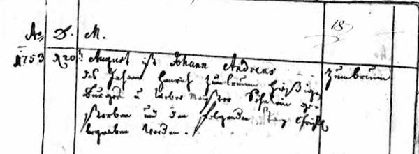 Johann Andreas death Schwegenheim