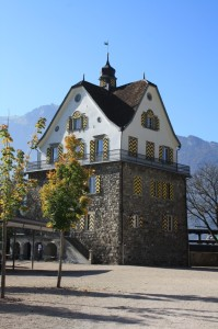 The Rudenz Castle in Fluelen, Switzerland was also a toll station on the trade route through Uri.