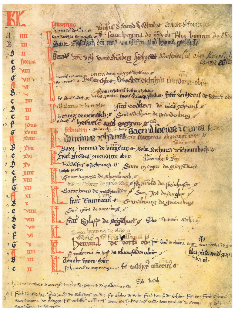 The necrology of the Monastery of the Order of St. Lazarus