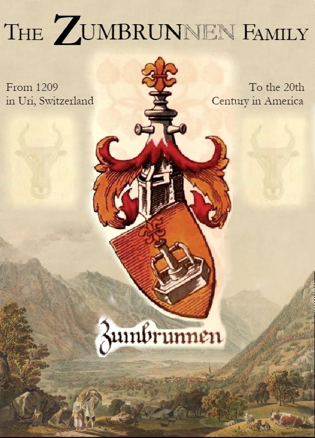 Zumbrun/Zumbrunnen Genealogy Book - Coming in 2021